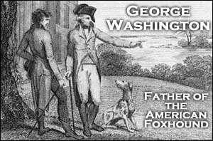George Washington helped establish the American Fox Hound breed