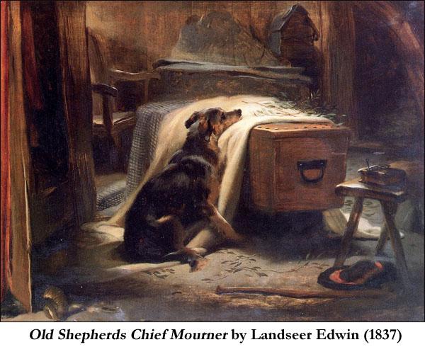 Old Shepherds Chief Mourner by Landseer Edwin (1837)